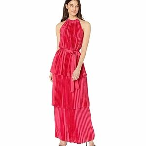 Juicy Couture Pleated Halter Maxi Dress